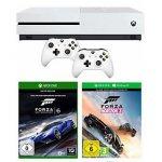 Xbox One S 500GB + 2x Controller + Forza Horizon 3 + Forza 6 um 255 €