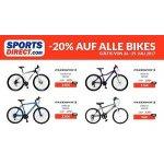 Sports Direct – 20 % Rabatt auf alle Bikes (bis 29. Juli)