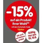 Interspar Onlineshop – 15 % Rabatt auf einen Artikel (Haushalt & Freizeit)