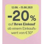 Bipa: 20 % Rabatt auf fast ALLES (ab 30 € Einkaufswert)