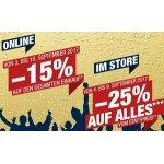 Hervis – 15 % Rabatt im Onlineshop / 25% Rabatt in den Stores