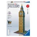 """Ravensburger 12554 – 3D Puzzle """"Big Ben"""" um 12 € statt 27 € (nur Prime)"""