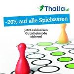 Thalia Onlineshop – 20 % Rabatt auf Spielwaren (bis 22. Jänner)