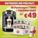 Tassimo Maschine + 10 Packungen Kapseln gratis ab nur 49 € statt 85 €