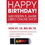 Libro Onlineshop feiert 5. Geburtstag – gratis Versand & gratis USB Stick