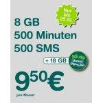 Spusu 9000 Tarif – 500 SMS / 500 Minuten / 8 GB Daten um 9,50 €