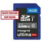 2x Integral Speicherkarte SDHC 16 GB Ultima Pro um 13 € statt 34,24 €