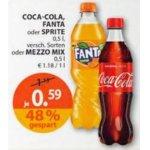 Coca Cola, Fanta oder Sprite 0,5 L (div. Sorten) um 0,59 € bei Müller