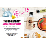 The Body Shop Onlineshop – 15 € Rabatt ab 50 € Bestellwert