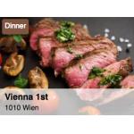 Vienna 1st – 3 Gänge Dinner Menü um 24,50 € statt 48 €