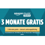 Amazon Music Unlimited 3 Monate um 0,99 € (für Neukunden mit Prime)