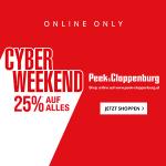 Peek&Cloppenburg Cyber Monday – 25% Rabatt auf ALLES (inkl. Sale)