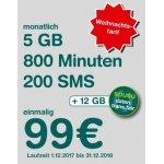 Spusu 032019 – 200 SMS / 800 Min / 5GB Daten für 13 Monate um 99€