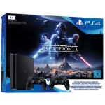 PS 4 Slim 1TB inkl. 2 Controller + Star Wars BF II um 299 € statt 380 €