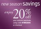 -20% auf alle Schuhe + kostenloser Versand @Javari UK