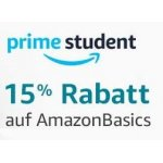 Amazon Prime Student – 15% Rabatt auf Amazon Basics Artikel
