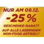 Penny – 25 % Rabatt auf alle Non-Food Artikel (nur am 8.12.)