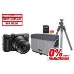 TOP! Nikon 1 J5 Systemkamera mit Objektiv VR 10-30mm + Kameratsche + 64GB Speicherkarte + Stativ um 333 € statt 524,83 €