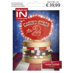 Casino Spaß (15 € + Burger + Getränk) für 2 Personen um 39,99 € statt 56 €