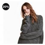 """H&M -20% auf """"weiche Styles"""" + gratis Versand – nur heute!"""