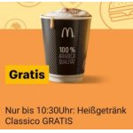 McDonald's Easy Monday – Heissgetränk Classico GRATIS