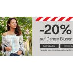 C&A Online & Filialen – 20 % auf Damenblusen bis 14.04.2018