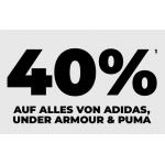mysportswear – 40% Rabatt auf alles von adidas, Puma & Under Armour