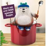 3Hilft – Foto hochladen = 3 Teller warme Suppe für die Caritas
