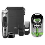 Braun Series 5 HC5090 Haarschneider + Gillette Body Rasierer um 35 €