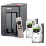QNAP TS-251+ NAS System + 2x 4TB Seagate Festplatte um 459 €