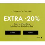 Guess Sale: zusätzliche 20% Rabatt auf bereits reduzierte Artikel