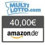 TOP! Mulitlotto.com – 20€ einzahlen & 40€ Amazon Gutschein erhalten