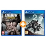 Call of Duty WWII (PS4) + Destiny 2 (PS4) um 55 € statt 82,62 €