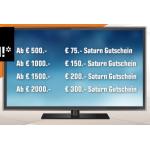 Saturn TV Weekend Deals – bis zu 300 € Gutschein zusätzlich!