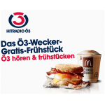 Ö3-Wecker Gratis-Frühstück bei McDonald's bis 9. März 2018