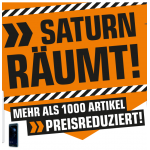 Saturn räumt – mehr als 1.000 Artikel preisreduziert bis 26. Mai 2018!