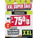 XXL Sports Super Sale  – Winterschlusskverkauf mit bis zu 75% Rabatt