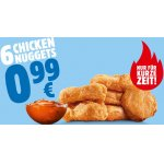 Burger King – 6 Chicken Nuggets inkl. Dip um 0,99 €