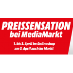 Media Markt Preissensation von 1. – 3. April 2018 + gratis Versand
