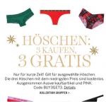 Victoria's Secret – 3 kaufen, 3 Damenhöschen kostenlos (bis 05.04.)