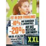 XXL Sports &Outdoor – 10 % Rabatt auf Fahrräder & Jagdartikel  / 20 % auf das restliche Sortiment (ausgenommen Sports Tech)
