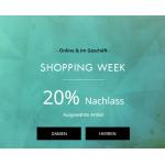 GUESS Shopping Week – 20% Rabatt auf ausgewählte Artikel