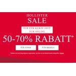 Hollister Online Sale: 50-70% Rabatt auf ausgewählte Artikel