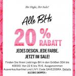 Victoria's Secret – 20% Rabatt auf BHs