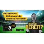 Bwin Neukunden – 10 € einzahlen + 20 € Amazon Gutschein GRATIS
