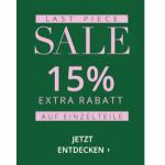 Peek & Cloppenburg – 15% Extra-Rabatt auf Einzelstücke