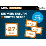 Mein Saturn Vorteilstage – bis zu 150 € Rabatt (27. – 30.04.)