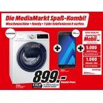 Samsung Waschmaschine (EEK: A+++, 8 kg) + Samsung Galaxy A3 + 1 Jahr GRATIS telefonieren und surfen um 899 € statt 1.308,33 €