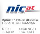 sehr günstige .at Domain für 1,25€ im 1. Jahr bzw. 13€ ab dem 2. Jahr @do.de
