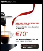 Nespresso Maschine für effektiv 24€ durch einen 70€ Kapselgutschein @Nespresso AT
